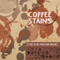 27 Coffee Stains: Free Grunge Photoshop Brushes by fiftyfivepixels