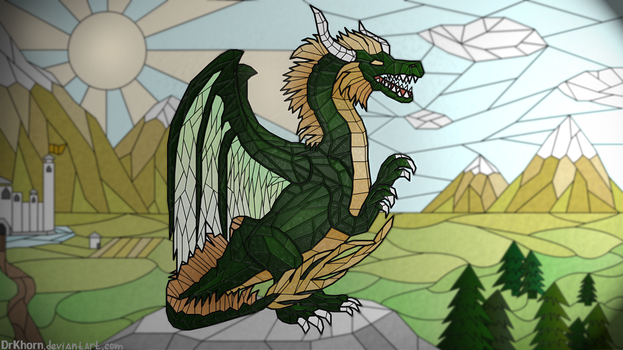 Green dragon by DrKhorn