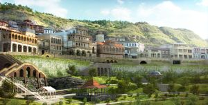 Old Tbilisi concept - Panorama by iraklisan