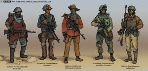 Human Militaries in the New World Continent by Pyrosity