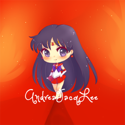 Sailor Mars Chibi Sticker by Kairui-chan