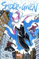 SpiderGwen sketch cover by mdavidct