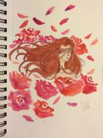 Roses  by pinkielora