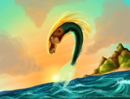 Leaping Mermaid by ladameblanche