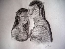 Jake and Neytiri by shadow-of-insanity