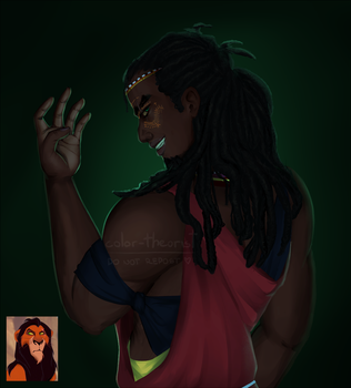 Scar Humanization [ The Lion King ] by color-theorist