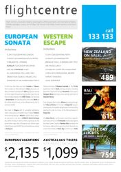 Travel Flyer using Metro Design Guidelines by laushung