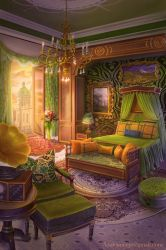 Bedroom in the Castle by Azot2018