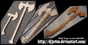 [WIP] Steel Axe from SKYRIM by Dj3r0m