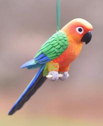 Jenday Conure Carving by greencheek