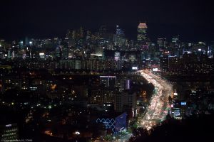 Seoul Gangnam Skyline by Night by ChristophGerlach