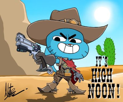 TAWoG x Overwatch: Gumball McCree by RadiumIven