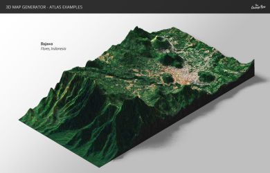 Relief-3D Map Generator - Atlas for Photoshop by templay-team