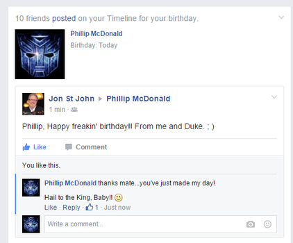 Happy Birthday from Jon St John by Phil-Mc