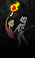 Don't Starve Willow and Sips by kernal-flob