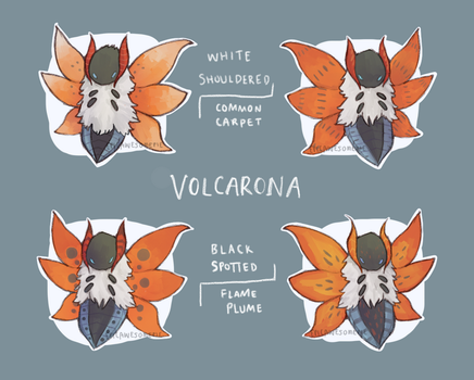 Volcarona Subspecies by spaded-square