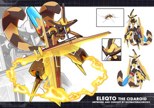 MMZX Ultimus- Eleqto the Cidaroid by ultimatemaverickx
