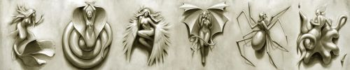 Female Monsters by Roggles