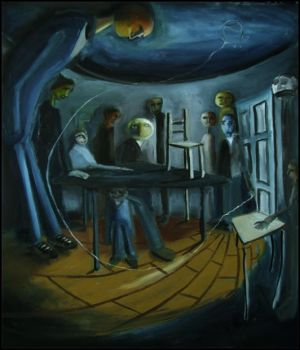 figures in a room by swampy