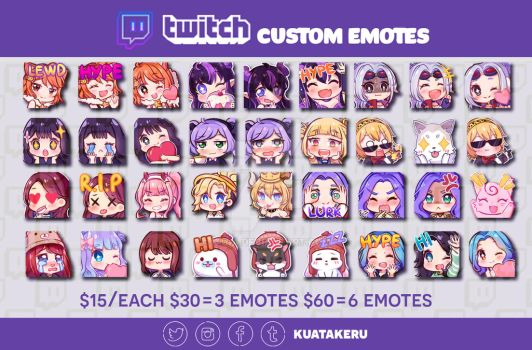 [C] Twitch Emotes by KuaTakeru