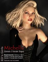 Freebie: ED's Girls Michelle (G3F shape) by Edheldil3D