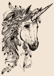 Feathered Unicorn by feanne