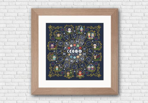 Zodiac Sampler cross stitch pattern by cloudsfactory