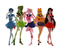 Sailor Scouts Prototype by colouredforpleasure