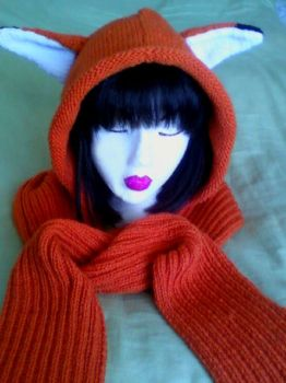 Fox Scoodie Hoodie with pockets by Ficklephonebug