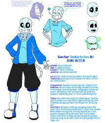 Gaster Industries AU: Sans by RTNightmare