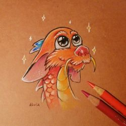 Little Mushu by AlviaAlcedo