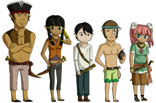 Pirate Crew by Icy-Snowflakes