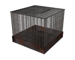 3d cage transparent png by madetobeunique