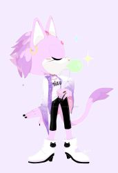 CASUAL OUTFIT// Blaze the cat by draw-what-you-wish