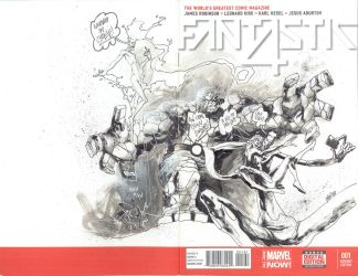 Fantastic Four sketch cover by weaselpa