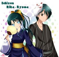 Echizen siblings by AnzuAngel
