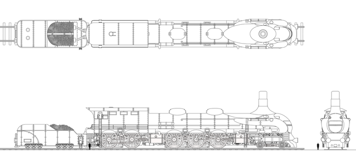 Viking Union Freight Locomotive with Tender by Tzoli