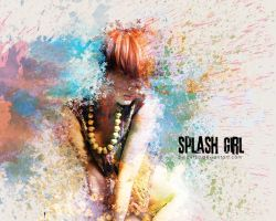 Splash Girl by pincel3d
