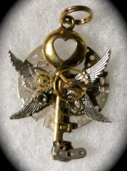 Steampunk 4 Wing Pendant by Lucky978
