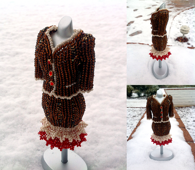 Gingerbread Mini Bead Suit by pinkythepink