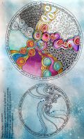 Two mandalas expressing my inner 'safe place' by Artwyrd