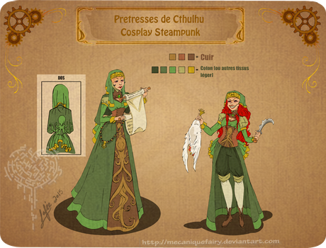 Cthulhu steampunk priestesses commission by MecaniqueFairy
