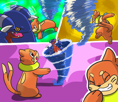 Buizel Battle Moment by sharpjet