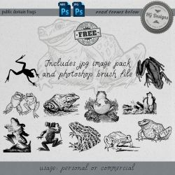 PS Brushes: Frogs by HGGraphicDesigns
