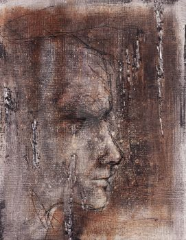 Face Study 2  on Cardboard by ZombAug