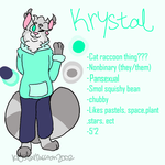Krystal Anthro refrence (3,25,18) by KrystalRaccoon2002