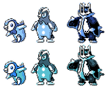 Piplup Prinplup Empoleon GSC Sprites by Axel-Comics