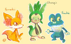 New Gen Starters by NERD-that-DRAWS