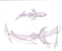 Sword and dagger by Safirah