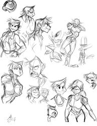 Sam Group Sketches2 by AmazingTrout